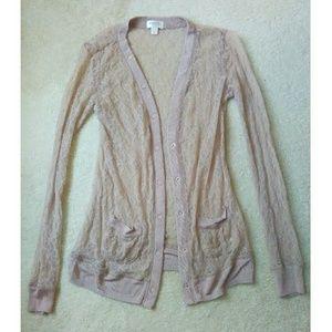 Rodarte Sweaters - 🎉 FLASH SALE! 🎉 Rodarte Blush Lace Cardigan