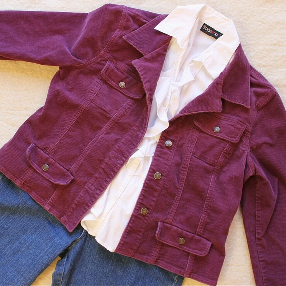 Chadwicks Jackets & Blazers - Purple Corduroy Jacket