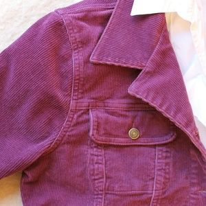 Chadwicks Jackets & Coats - Purple Corduroy Jacket