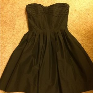 WHBM Strapless Taffeta Dress