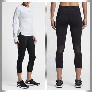 Nike Epic Lux Black Crop Tights Pants Legging