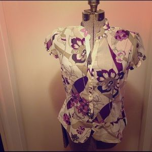 Tops - Size 8, Sheer Floral Top from Worthington