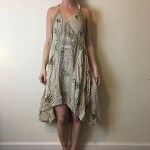 Free People Dresses & Skirts - NWT FREE PEOPLE Tan Printed High Low Dress