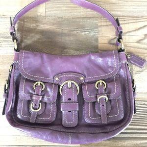 Coach Leather Garcia Hobo Handbag