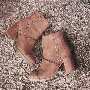 Report suede heel boots