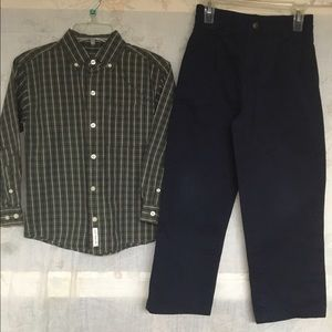 NEW Covington Dress Shirt/ Navy Dres Pant/ Uniform