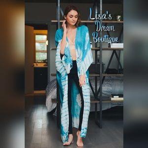 LDB Other - ✨Turquoise Tie Dye Long Kimono✨