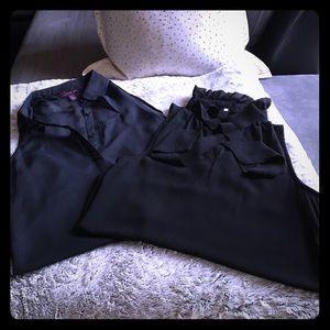 Zinga Tops - Sheer sleeveless collar🎀 shirt with bonus shirt🎉
