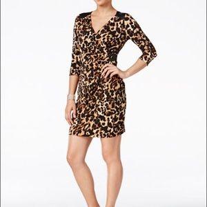 Thalia Sodi Dresses & Skirts - NWT Thalia Sodi Printed Faux-wrap Bodycon Dress