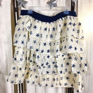 Lane Bryant Dresses & Skirts - NWT Lane Bryant Ruffled Tiered Skirt Star Pattern