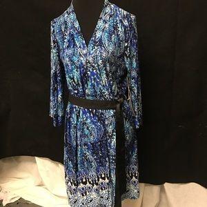 Artisan NY Dresses & Skirts - NWT Artisan NY Midi MultiColor Wrap Dress, Size M