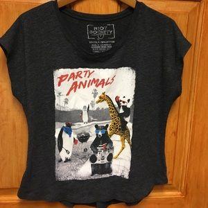 riot society Tops - Party Animals T-shirt!
