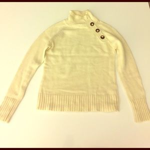 Cream color button neck sweater - Size XS