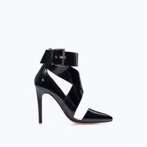 Zara High Heel Strappy Shoe With Buckle