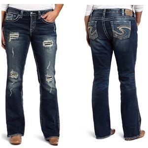 """Silver Jeans Denim - Euc silver jeans Frances 18"""" Bootcut Jeans Sz 28"""
