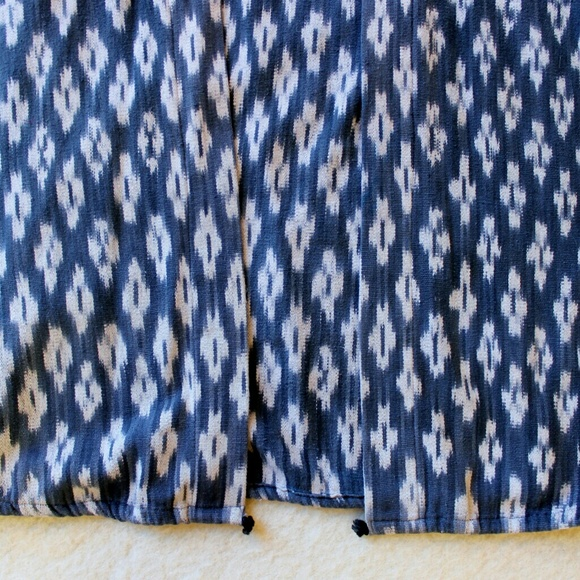Jackets & Coats - Indigo Ikat Vest, Handwoven and Hand-dyed