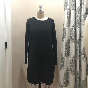 LOFT Dark Grey Knit Sweater Dress