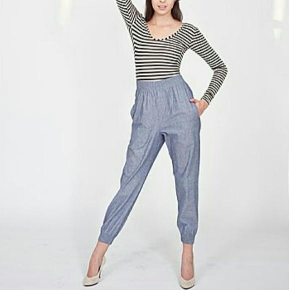 fb1e1bdc906 American Apparel Pants - Blue Chambray American Apparel Jumper Pants