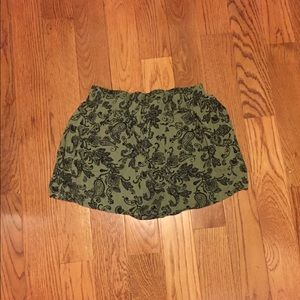 Green shorts from Forever 21