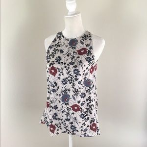 Theory Tops - Theory 100% silk floral sleeveless tank Blouse