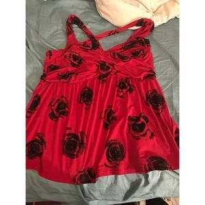Torrid Red Size Two top size 2 NEW size 18