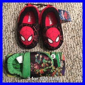 Spiderman Other - Spider-Man & Ninja Turtles Set of Bedroom Shoes