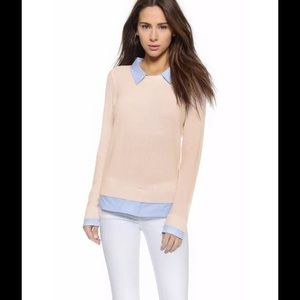 Joie Sweaters - Joie Rika Cashmere Blend Layered Sweater in Pink