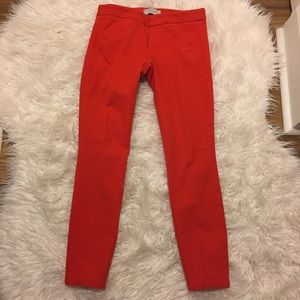 • Gap Ultra-Skinny Red Orange Trouser Pants •