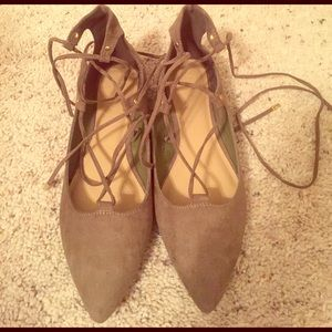 Old Navy Shoes - OLD NAVY lace up flats. Brand new!
