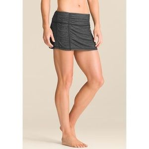 ATHLETA HATHA YOGA SKORT SKIRT M Black space dye