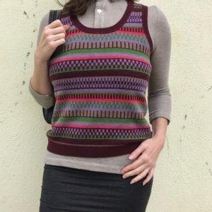 Boden Sweaters - Wool BODEN sweater vest KNIT striped L PREPPY WARM