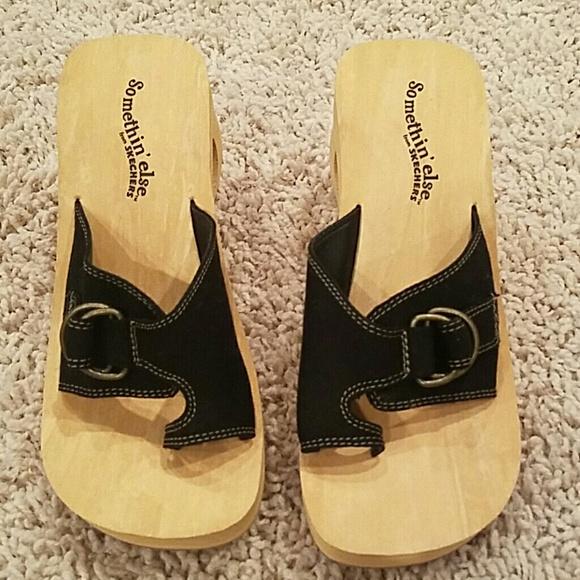Skechers Somethin Else Wedge Sandals. Sz 7