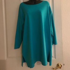 Tapemeasure Tops - Tapemeasure  Turquoise Tunic Top