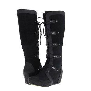 Jambu Shoes - Jambu Mulberry Black Leather Suede Boots