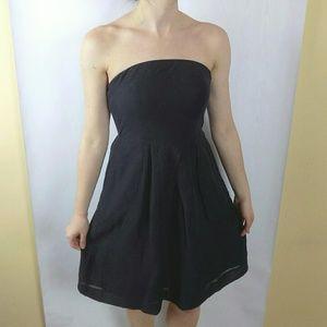 J. Crew Silk Blend Strapless Dress
