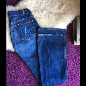 7 For All Mankind Denim - 7 for all mankind A pockets flare jeans dark wash!