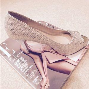 Aldo Shoes - ❗️sale❗️Wedding Aldo Silver Sparkle Peep Toe Pumps
