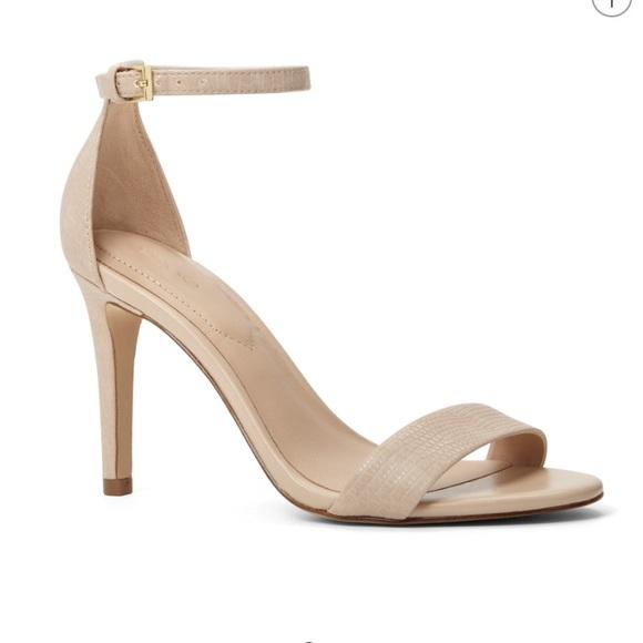 502edd68820 ALDO Caragna Nude Strappy Heels Size 6