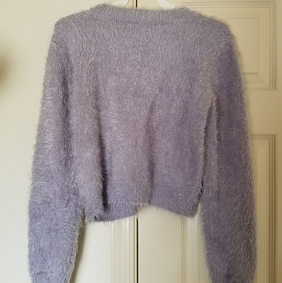 Forever 21 Sweaters - Light Lavendar Purple Pastel Fuzzy Sweater Cute M