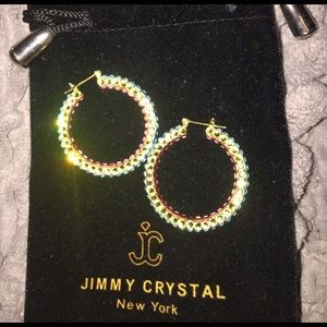 489353c79 jimmy crystal new york Jewelry - Multi colored jimmy crystal mini hoops