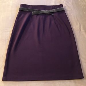 Girls From Savoy Purple Velvet-Crossed Ponte Skirt