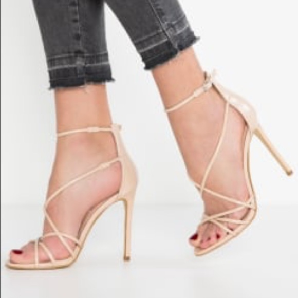 794df9d32a6 🎉FLASH SALE Steve Madden Nude Strappy Satire Heel