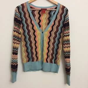 missoni for Target Sweaters - Missoni for Target Ziz Zag Multicolored Cardigan