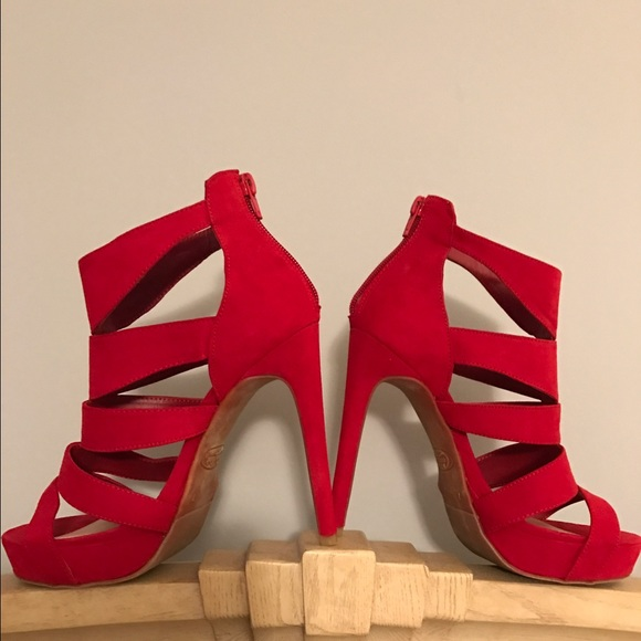 44% off Candie's Shoes - NWOT RED CANDIES HEELS 👠 from Lori's ...