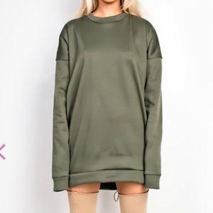 Olive green Sweater Dress / Jumper