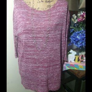 LOFT Sweaters - Ann Taylor Loft Pink/White Sweater