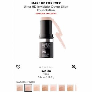 NEW Y205 MAKEUP FOREVER ULTRA HD FOUNDATION STICK