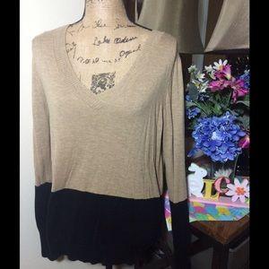 DKNY Sweaters - DKNY Brown/Beige Sweater