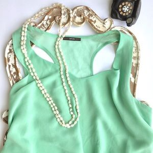Soprano Tops - Gorgeous Soprano Light Green Lace Top