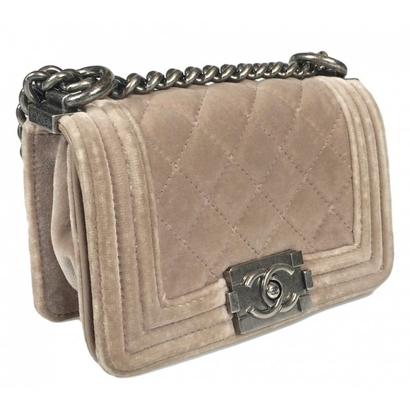 9a5f5f495778eb CHANEL Handbags - Boy Chanel Velvet mini